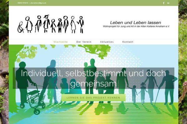 Webdesign – Wohnprojekt Arnshain (Ehrenamt)