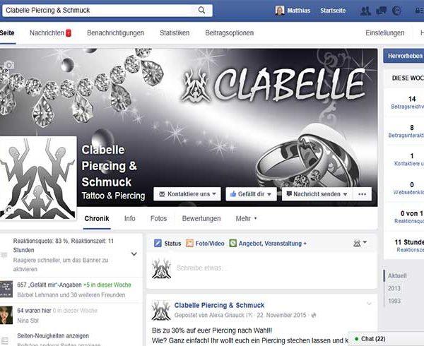 Clabelle-Facebook-Seite