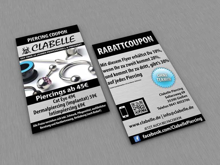 Clabelle Flyer erstellen