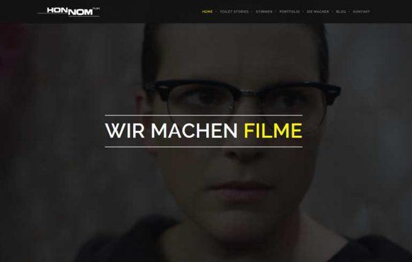 Honnom-Film Landingpage