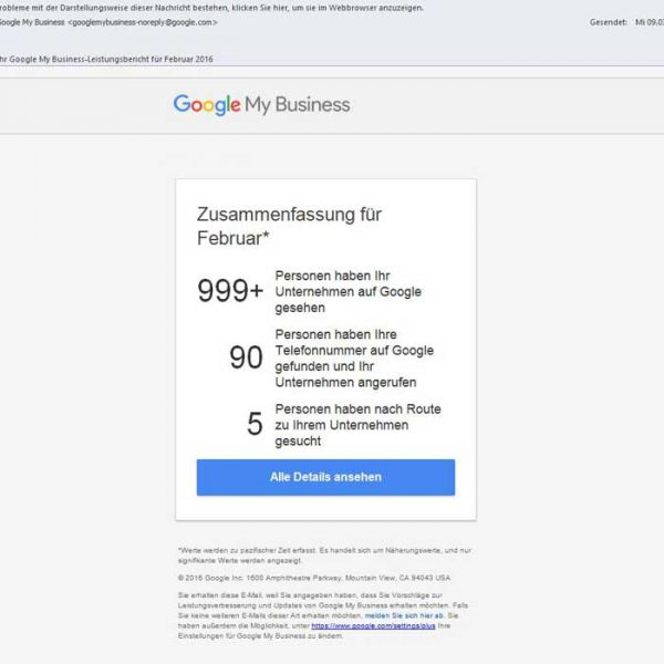 Google My Business Optimierung